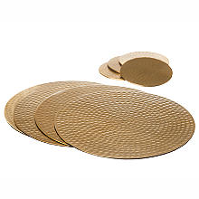 Just Slate Hammered Gold Place Mats and Coasters Set of 4