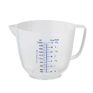 Lakeland Mix & Measure Clear Plastic Measuring Jug 2L