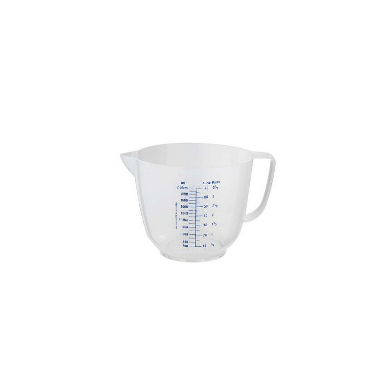 Mix & Measure Clear Plastic Measuring Jug 2L