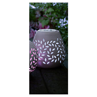 Teardrop Porcelain Solar Light