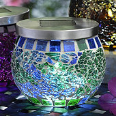 Green Mosaic Solar Light