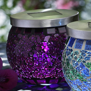 Purple Mosaic Solar Light