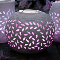 Sphere Porcelain Solar Light