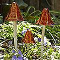 3 Mushroom Garden Chimes