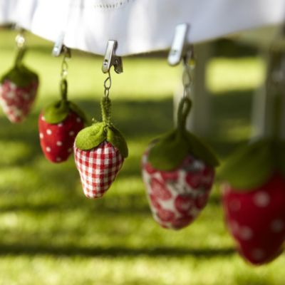 6 Strawberry Tablecloth Weights In Garden Furniture At