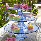 Glass Cake Plate Trio