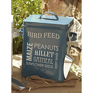 Enamel Storage Bird Feed Tin