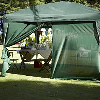 Gazebo zipped side panel