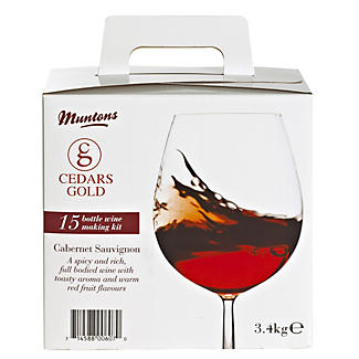 Cedars Gold Cabernet Sauvignon Wine Making Kit (15 Bottles)