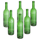 Green Wine Bottles 6 Pack