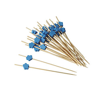 Blue Flower Cocktail Picks
