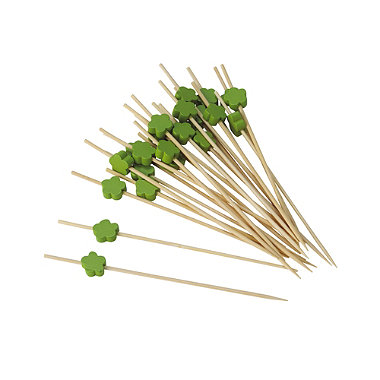 Green Flower Cocktail Picks