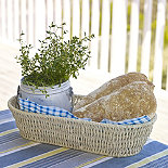 Oval Rustic Serving Basket