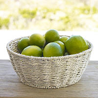Round Rustic Serving Basket