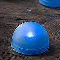 3 Blue LED Tealight Domes