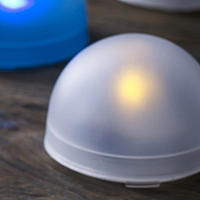 3 White LED Tealight Domes