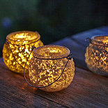 Glass Tealight Trio