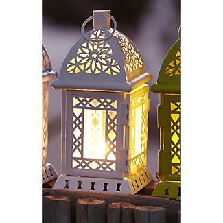 White Tealight Lantern