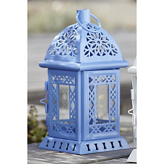 Blue Tealight Lantern