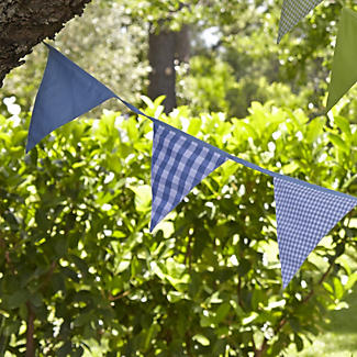 Blue Stripes and Checks Bunting