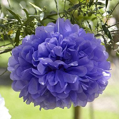 Paper Pom Poms Lilac