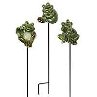 3 Frog Garden Picks