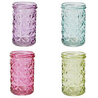 4 Carnival Candle Jars