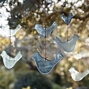 Hanging Glass Birds