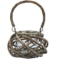 Small Rustic Willow Lantern