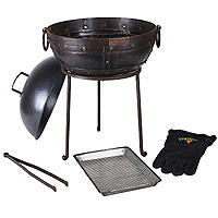 Mini Kadai Barbecue Firebowl Plus Cookware Set