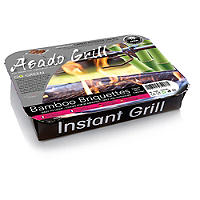 Asado Disposable Instant Barbecue Grill Standard - Charcoal