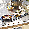 Copper and Slate Serving Platter
