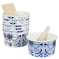 Party Porcelain 8 Ice Cream Bowls