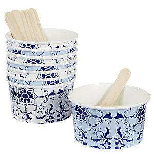 Party Porcelain 8 Ice Cream Bowls