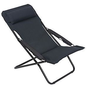 Lafuma Transabed XL AC Deck Chair Acier