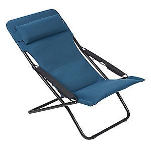 Lafuma Transabed XL AC Deck Chair Coral Blue