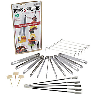 Social Grill Tongs and Skewers