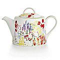 Painted Garden Teapot