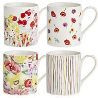 Painted Garden 4 Mugs