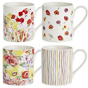 Painted Garden 4 Mugs