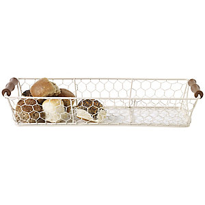 Rustic Wire Long Basket