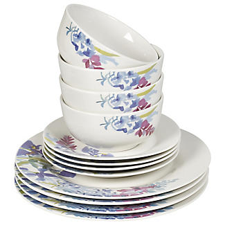 12-Piece Floral Dinner Set alt image 2
