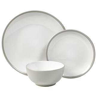 12-Piece Dove Grey Stoneware Dinner Set alt image 1