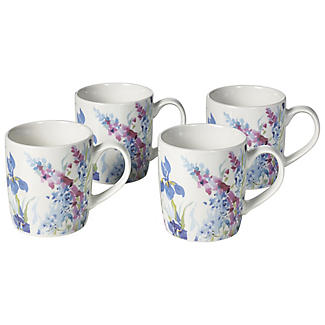 4 Pack Floral Mugs