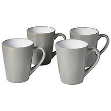 4 Pack Dove Grey Mugs