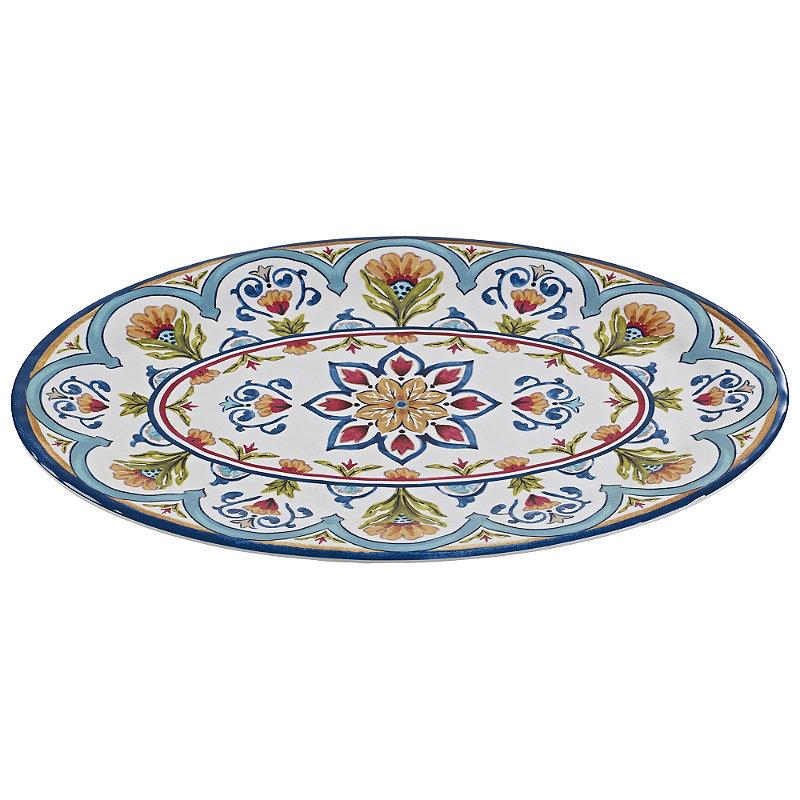 Amalfi Range Melamine Unbreakable Picnicware - Serving Platter