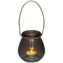 Smoke Glass Rope Lantern