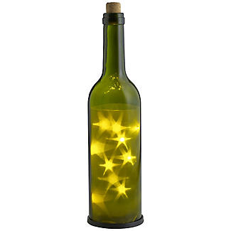 LED 3D Star Green Glass Bottle For Outdoor
