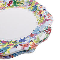 12 Floral Fiesta Paper Plates
