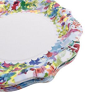 12 Floral Fiesta Paper Plates